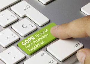 GDPR button on keyboard