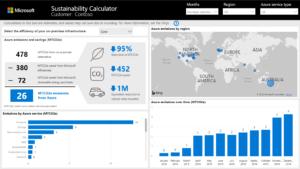 Microsoft sustainability calculator